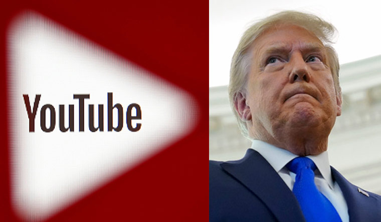 YouTube suspends Trump's channel for at least a week